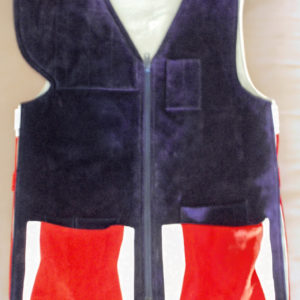 vest with suede white top grain front